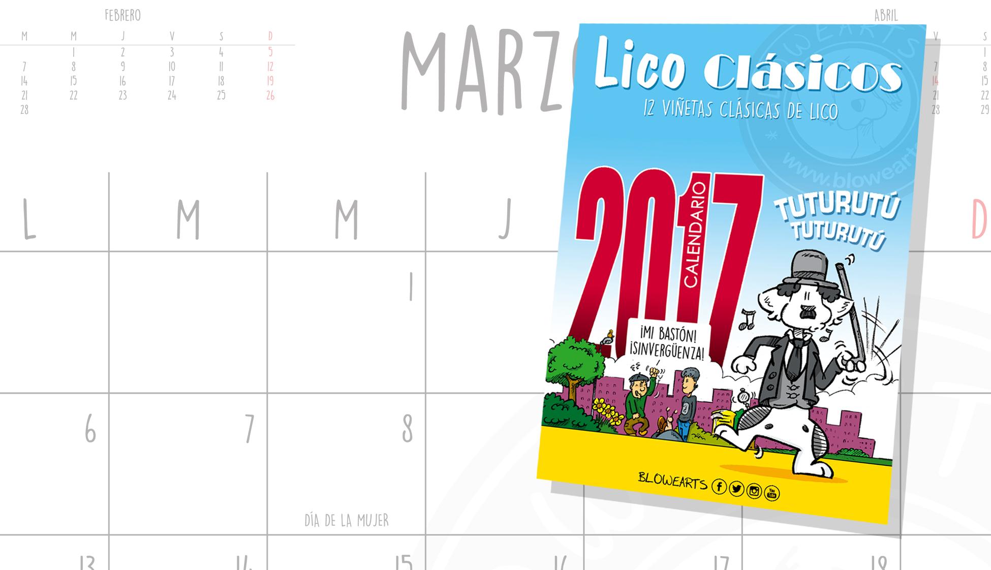 Calendario Perruno.Blowearts